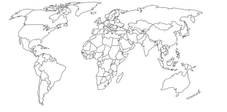 Mapa mundial vectorizado (países)