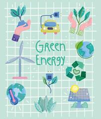 Fototapeta green energy poster obraz