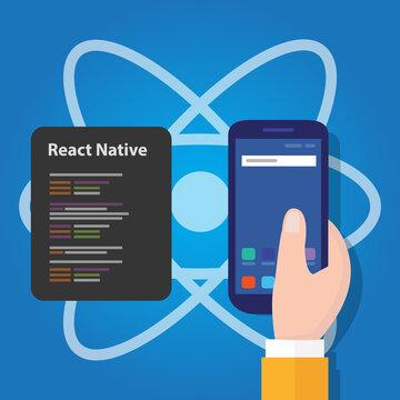 react native mobile programming code developer software smartphone