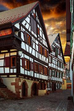 historische Fachwerkhäuser in Schiltach im Schwarzwald