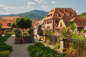 Amazing village in the Alsace province