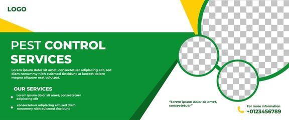 Obraz Pest Control Website Banner Template Design. - fototapety do salonu