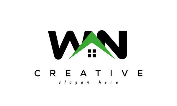 initial WN real estate logo vector