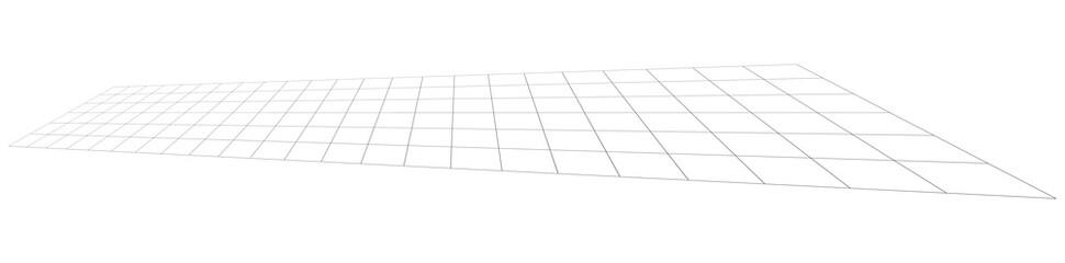 Tilted, skew 3D grid, mesh Wall mural