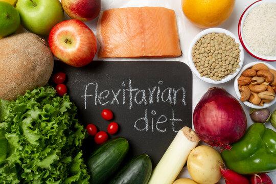 Easy flexitarian diet food assortment