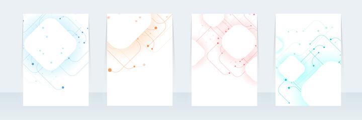 Fototapeta Vector abstract design Cover Report Brochure Flyer Banner Pattern background.  obraz