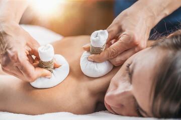 Potli Dry Massage Therapy at Ayurvedic Wellness Center
