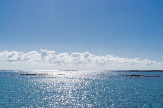 The Altantic Ocean at the island of Lanzarote