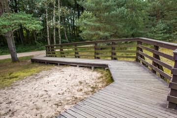 Słowiński Park Narodowy ścieżka podest barierki