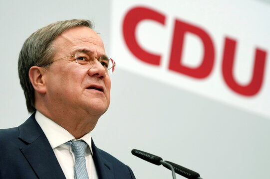 Christian Democratic Union (CDU) news conference after party leadership meeting, in Berlin