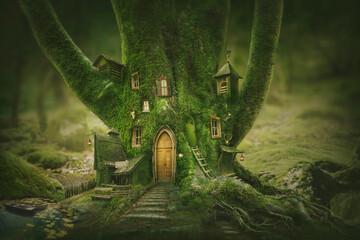 Fototapeta Magic tree home obraz