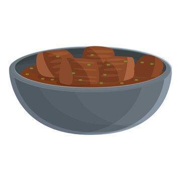 Restaurant korean meal icon. Cartoon of Restaurant korean meal vector icon for web design isolated on white background