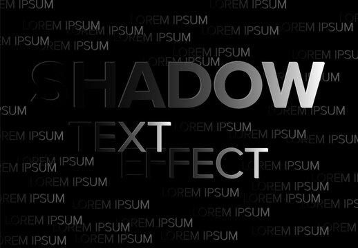 Dark Shadow Editable Text Effect