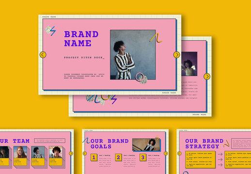 Pop Grid Digital Brand Presentation for Digital Publishing