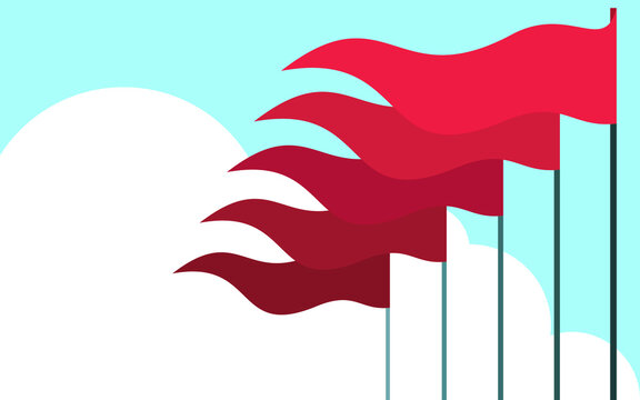 Waving flags Vector illustration with copy space Waving flags Vector illustration with copy space