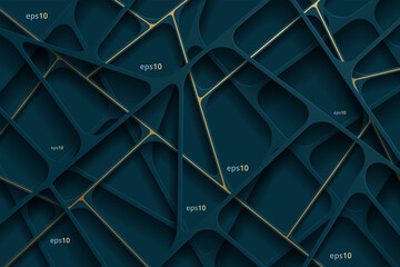 Obraz Abstract Luxury Background With Golden Line - fototapety do salonu