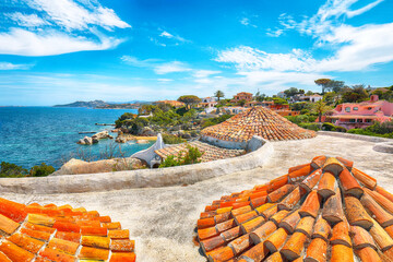 Gorgeous view of  Porto Rafael resort. Awesome tiled roof of traditional houses
