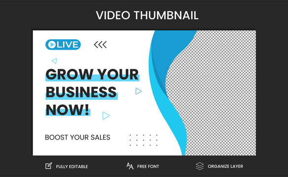 Youtube live stream video thumbnail for marketing agency | video thumbnail | Youtube thumbnail