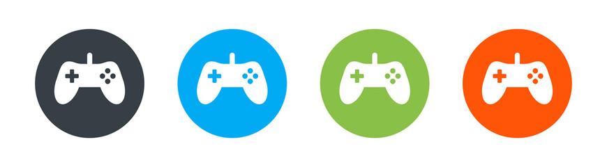 Gamepad, joypad icon vector illustration. Game concept