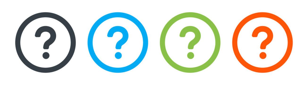 Question mark Button vector icon.
