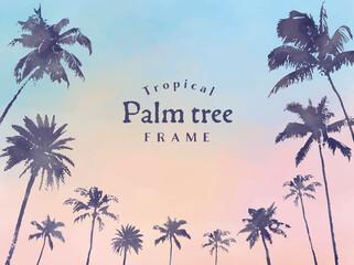 ヤシの木フレーム(Palm tree frame)