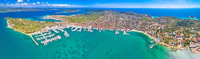 Island of Murter archipelago aerial panoramic view - fototapety na wymiar
