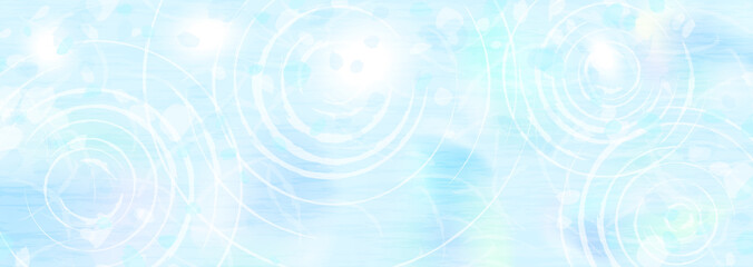 Canvas Prints Light blue 水面の波紋と映り込む光 涼しげな背景イラスト