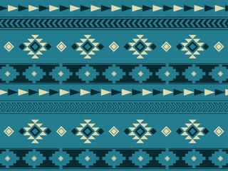 南米風のネイティブパターンの背景素材