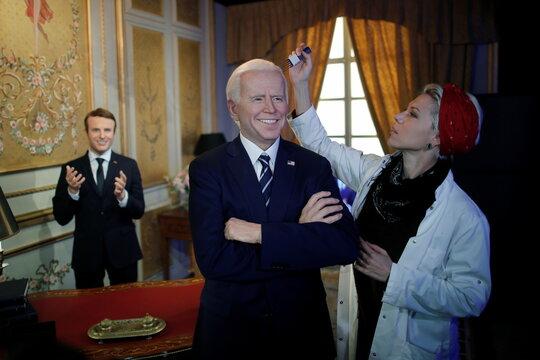 Grevin museum unveils wax figure of US President Joe Biden ahead of reopening in Paris