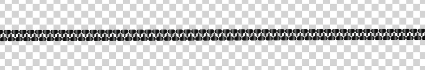 Vector realistic isolated Zipper line on the transparent background.