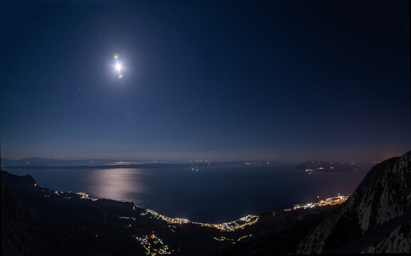 A Full Moon Over The Southern Adriatic Sea