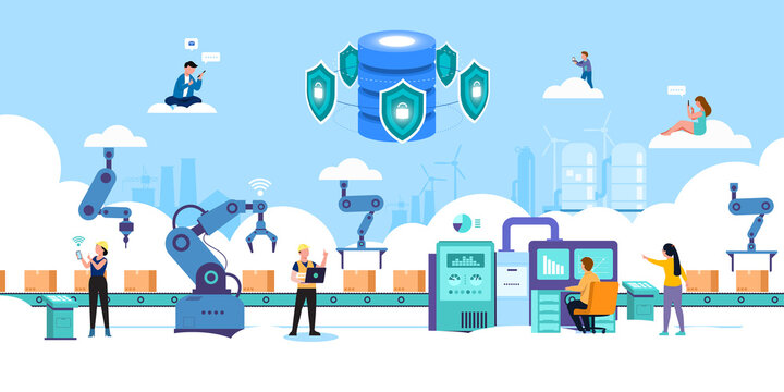 Smart industry 4.0 Internet of things technology vector illustration