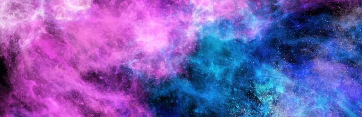 Fototapeta Space Abstract Galaxy art Banner. Vector design. obraz