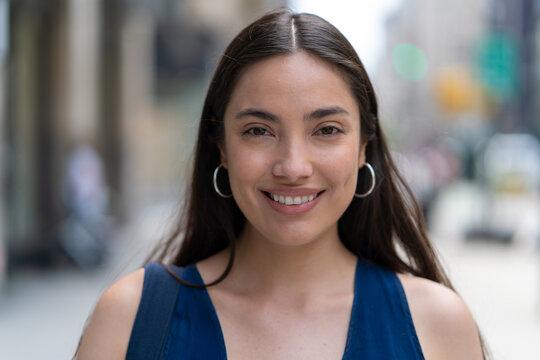 Young Latina Hispanic woman smile happy face portrait