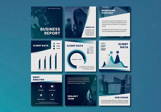 Business Social Media Post Editable Template