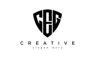 Obraz CEG letter creative logo with shield - fototapety do salonu