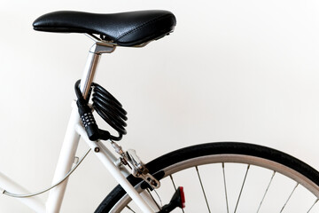 Fototapeta Closeup of mountain bike isolated on white background obraz
