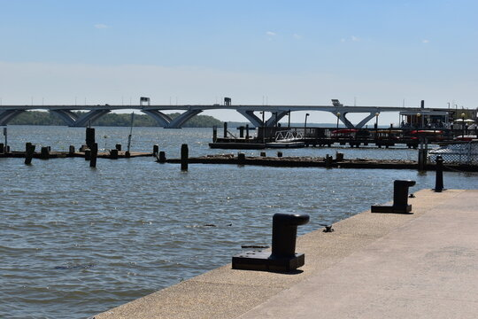 View of the Woodrow Wilson Bridge from Old Town Alexandria