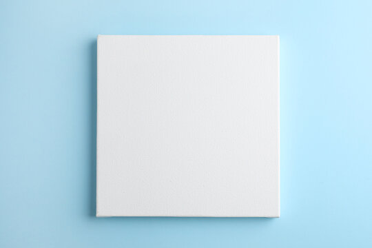 Blank canvas on light blue background, space for text
