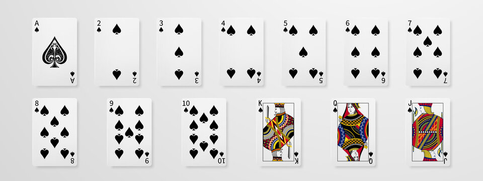 Set of playing cards. Winning poker hand casino chips flying realistic tokens for gambling, cash for roulette or poker,