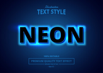 Fototapeta NEON Illustrator Text Effect obraz