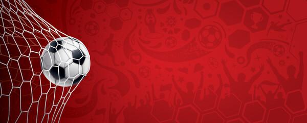 Obraz ARRIÈRE-PLAN FOOTBALL ROUGE - fototapety do salonu