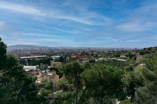 The city of Barcelona from the mountain