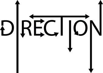 The right or left direction logo idea