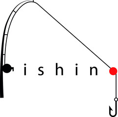 Fishing shop logo icon idea