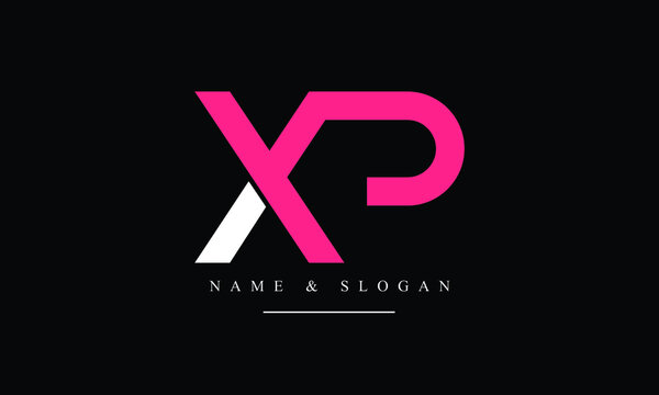 PX, XP, P, X abstract letters logo monogram