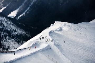 Narty w Tatrach - fototapety na wymiar
