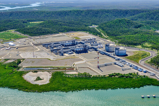 Liquified natural gas plants on Curtis Island, Queensland