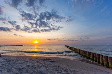 Morze bałtyckie Zachód słóńca Sunset