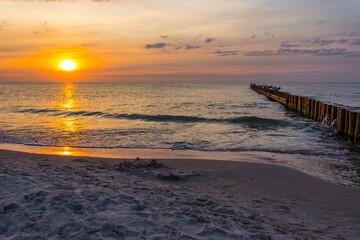 Fototapeta Morze Bałtyckie Zachód słońca Sundown obraz